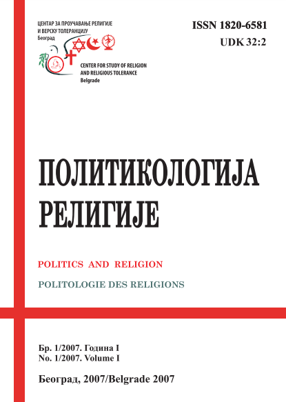 Political Science And Religion Politics And Religion Journal